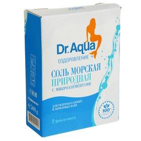 Соль морская Dr. Aqua, природная, 2 фильтр-пакета по 250 г