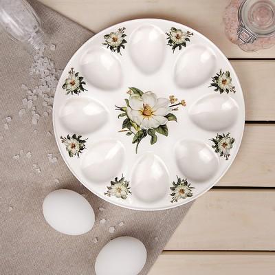 Подставка для яиц Доляна «Цветы шиповника», d=20 см - Фото 1