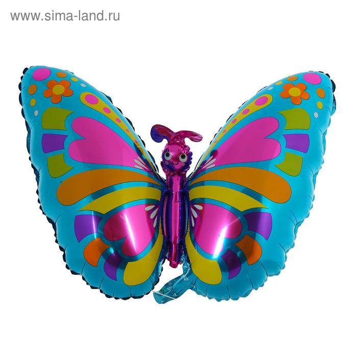 """Шар фольгированный 13"""" «Бабочка», сердца, горошек"""