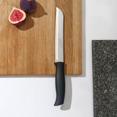 Нож кухонный для хлеба Athus, лезвие 17,5 см, сталь AISI 420 - Фото 1