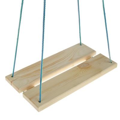 Качели подвесные, деревянные, сиденье 40×22см - Фото 1