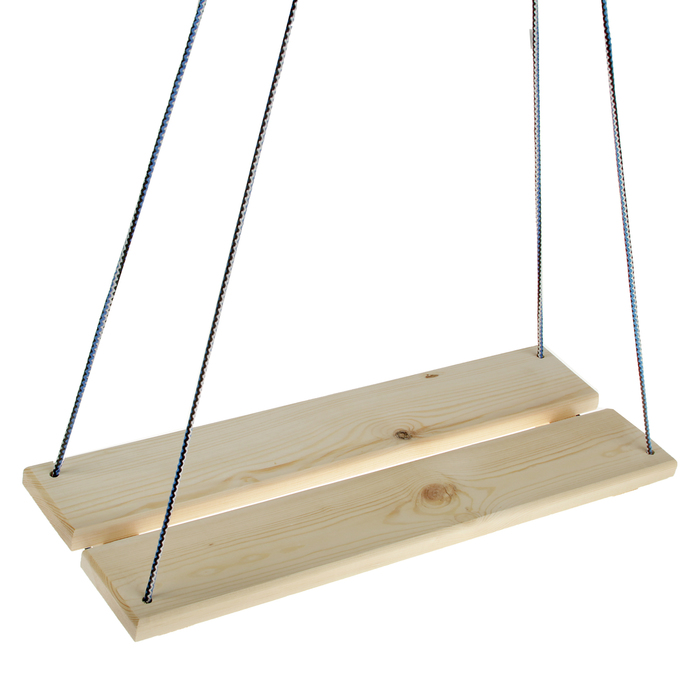 Качели подвесные, деревянные, сиденье 6022см