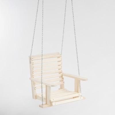 Качели подвесные, деревянные, сиденье 50×65см - Фото 1