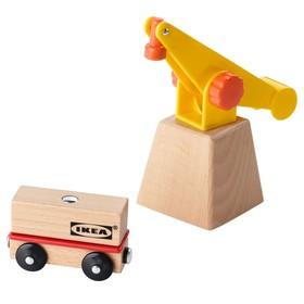 Подъемный кран и вагон, 3 предмета ЛИЛЛАБУ
