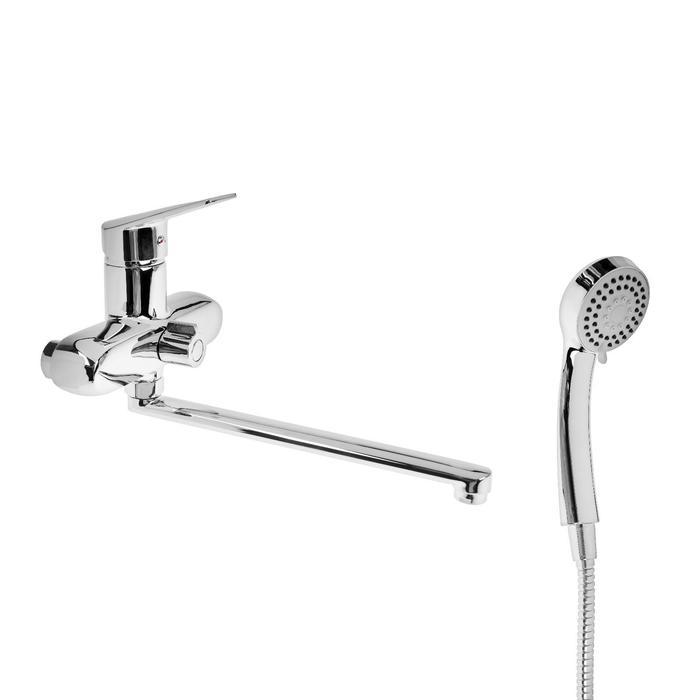 Cмеситель для ванны Accoona A7110, однорычажный, 2-режимный картридж, латунь, хром