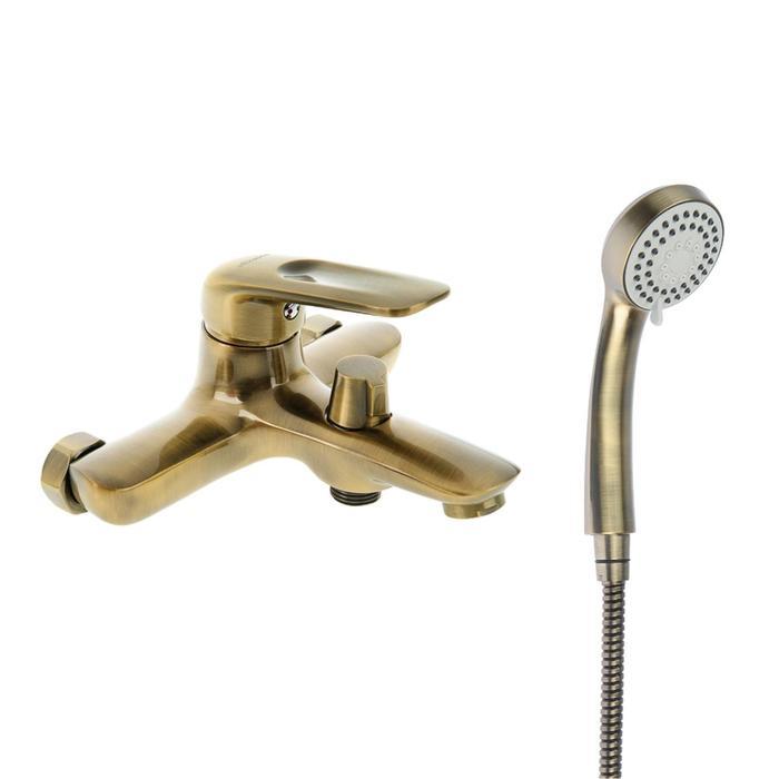 Cмеситель для ванны Accoona A6316C, однорычажный, короткий излив, латунь, бронза