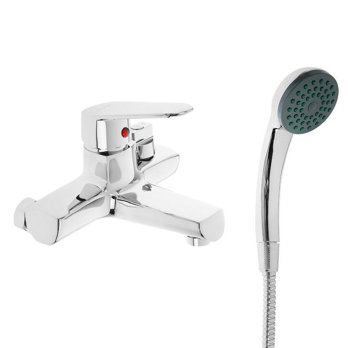 Cмеситель для ванны Accoona A6369, однорычажный, короткий излив, силумин, хром