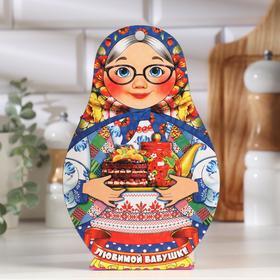 """Доска разделочная сувенирная """"Матрёшка"""", любимой бабуле, 14,9×23см"""