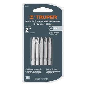 Набор бит повышенной прочности TRUPER P5-22, сталь S2, PH-2, 51 мм, 5 шт