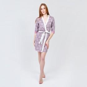 Комплект женский (халат, сорочка), цвет МИКС, размер 50