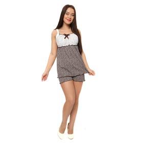 Комплект женский (майка, шорты) М25 цвет МИКС , р-р 42