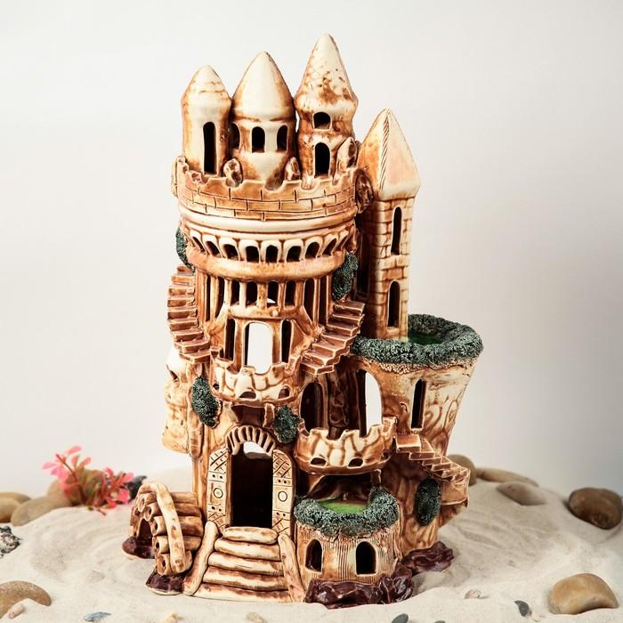 """Декорация для аквариума """"Замок Колонна"""", 18 х 26 х 40 см"""