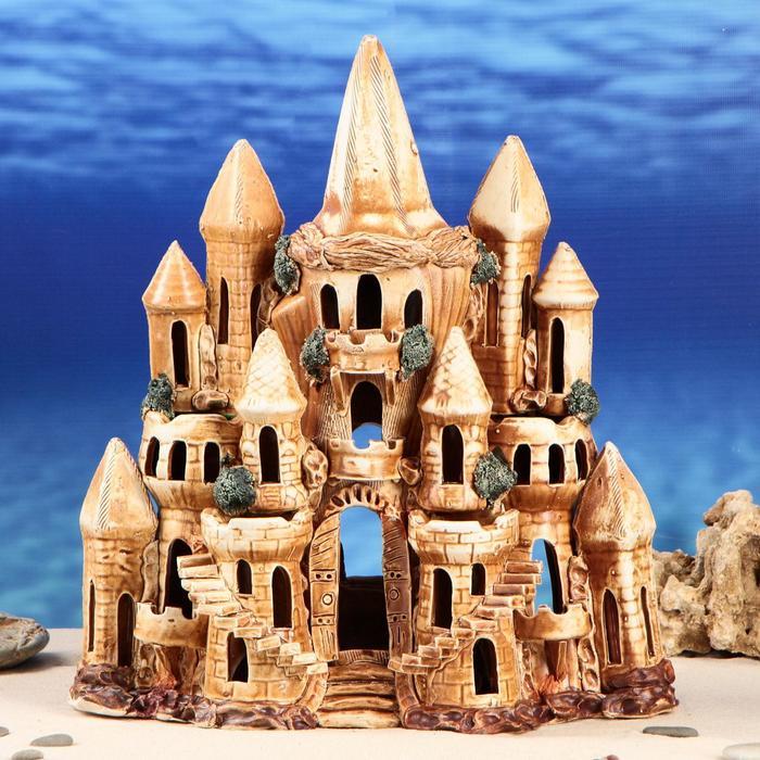 """Декорация для аквариума """"Замок Лиана"""", 17 х 37 х 44 см"""