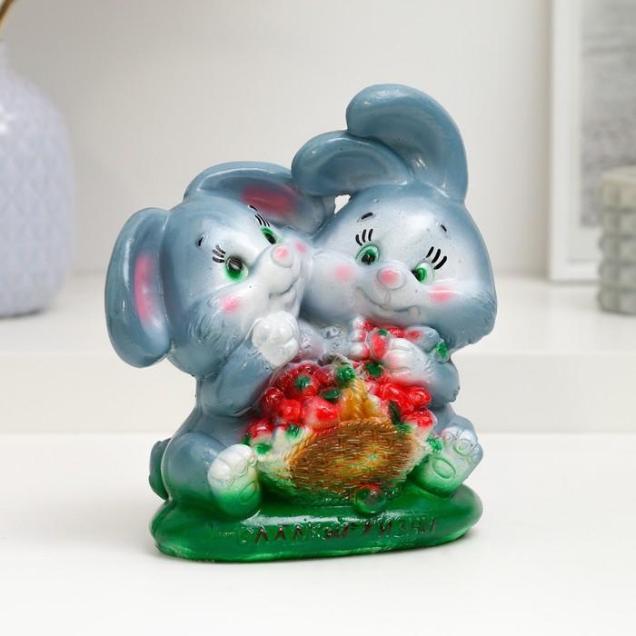 "Копилка ""Кролики с клубникой 16х16х9см"