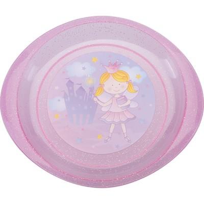 Тарелка детская «Принцесса», диаметр 18 см, для вторых блюд, от 4 мес., цвета МИКС - Фото 1
