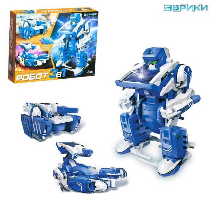 """Конструктор """"Робот"""", 3 в 1, работает от солнечной батареи"""