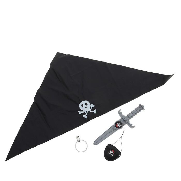"""Набор пирата """"Черная бандана"""", 4 предмета"""