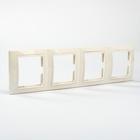 Рамка 4-х постовая вертикальная белая