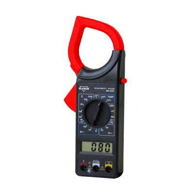 Токоизмерительные клещи Elitech ММ 200К, 600В/600В, 1000А, 200 Ом, ЖК дисплей