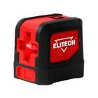 Нивелир лазерный Elitech ЛН 3, 2х1.5В (АА), 20м, ±1.5 мм/5 м, 0.25кг, гор/верт. луч, чехол