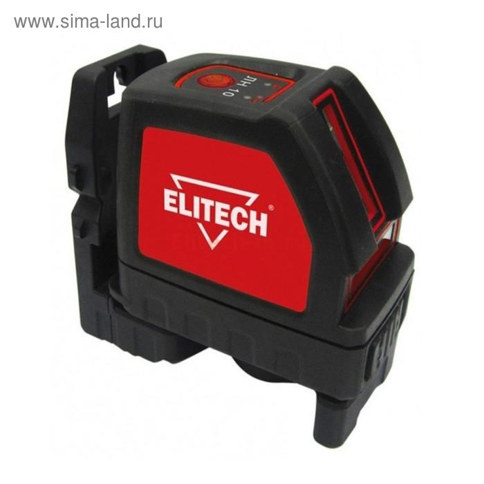 Нивелир лазерный Elitech ЛН 10, 3х1.5В (АА), 30/50м, ±1мм/5м, гор/верт луч, кронштейн