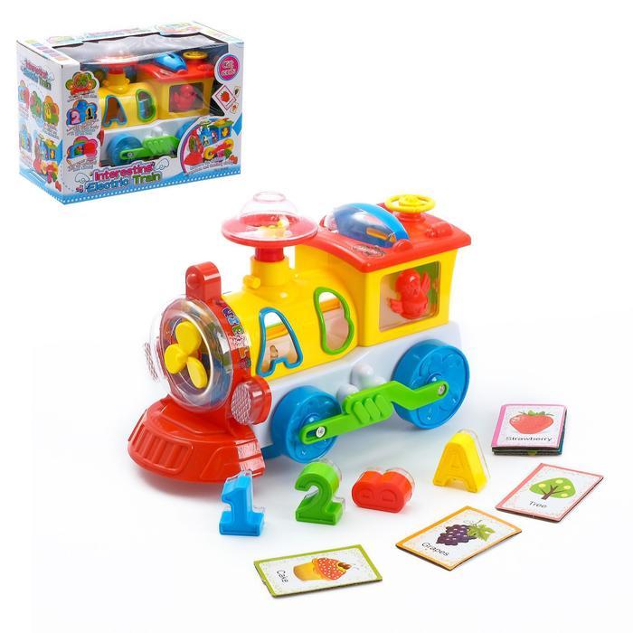 Музыкальная развивающая игрушка с сортером «Паровоз», световые и звуковые эффекты