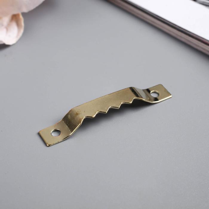 Зубчатая подвеска для картин, фоторамок металл (набор 40 шт) золото 4х0,5 см
