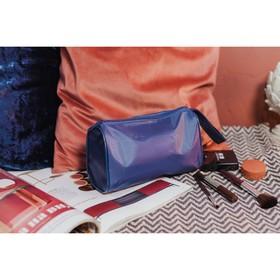 Косметичка-сумочка, отдел на молнии, цвет синий Ош