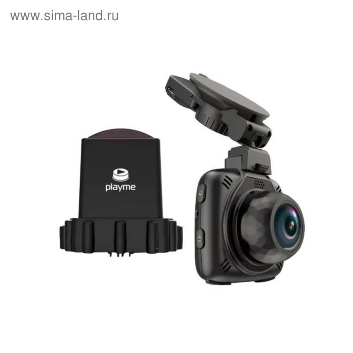 "Видеорегистратор + радар-детектор Playme Maxi, 2"", обзор 140°, 2304х1296"