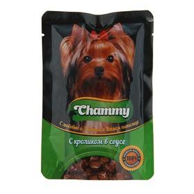 Влажный корм Chammy для собак, кролик в соусе, 85 г Ош