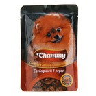 Влажный корм Chammy для собак, говядина в соусе, 85 г