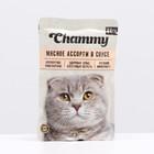 Влажный корм Chammy для кошек, мясное ассорти в соусе, пауч, 85 г