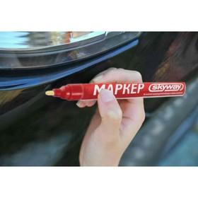 Маркер-карандаш Skyway, от сколов и царапин,наконечник из фетра, красный Ош