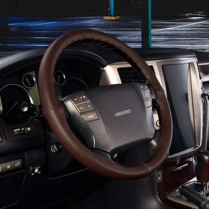 Оплетка Skyway Corset, размер M, экокожа, коричневый