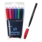 Линер Schneider Topliner 967, узел 0.4 мм, 6 цветов в наборе - Фото 1
