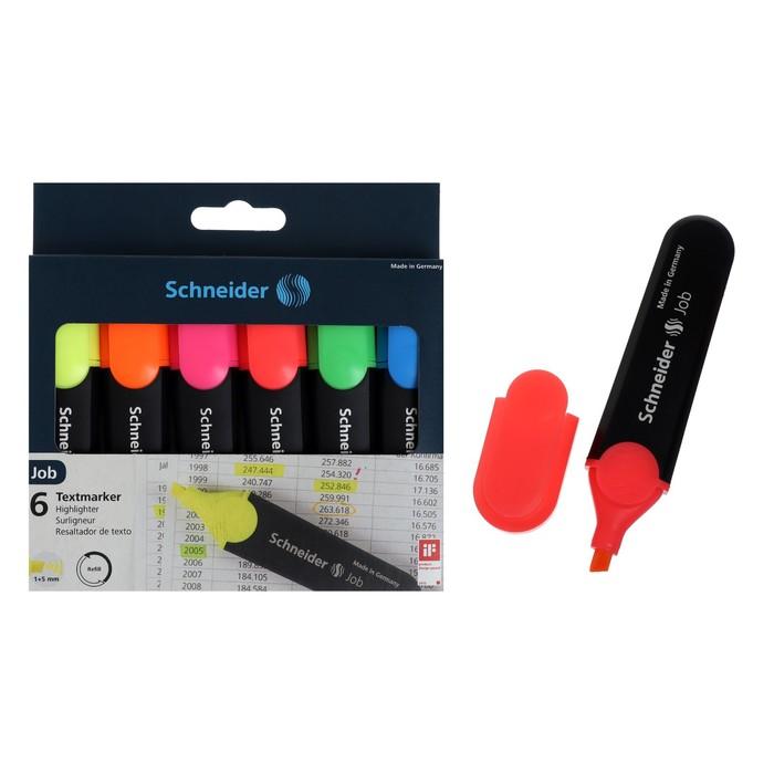 Набор маркеров текстовыделителей 6 цветов, 5.0 Schneider Job