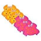 Набор мини-ковриков для ванной 6 шт, «Крабики», на присосах, цвет МИКС