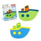 Набор мини-ковриков для ванной 6 шт, «Кораблики», на присосах, цвет МИКС