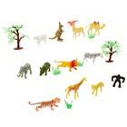Набор животных «Дикая природа» с аксессуарами, 12 фигурок