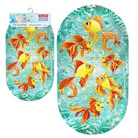 SPA-коврик для ванны «Золотые рыбки», 69 х 39 см