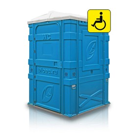 Туалетная кабина, разборная, 1.56 × 1.58 × 2.3 м, цвет синий, «Эколайт Макс» Ош