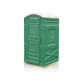 Туалетная кабина, 1.15 × 1.15 × 2.3 м, универсальная, цвет зелёный, «Эколайт Стандарт» Ош