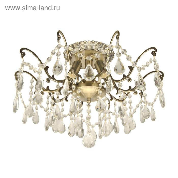 """Люстра """"Каскад"""" 5 лампы E14 60Вт  бронза с золотом"""