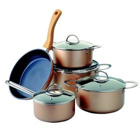 Набор посуды 9 предметов, алюминий