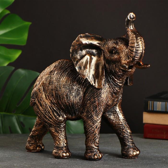 купить Фигура Слон бронза 29х30х15см