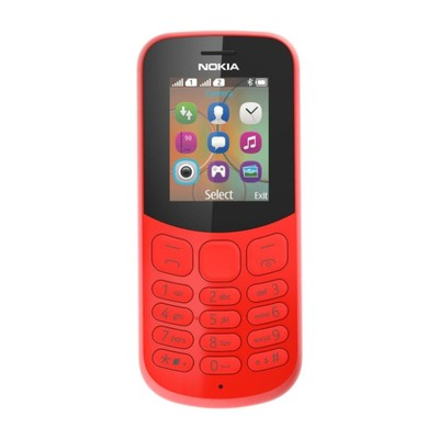 """Сотовый телефон Nokia 130, 1.8"""", 2 sim, 1020 мАч, красный - Фото 1"""