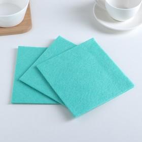 Салфетки для уборки 30×30 см, вискоза, 3 шт, цвет зелёный Ош