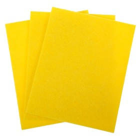 Салфетки для уборки 30×38 см, вискоза, 3 шт, цвет жёлтый