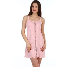Сорочка женская Офелия, цвет розовый, размер 44