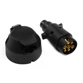 Соединитель для электропроводки прицепа, розетка и вилка, 7 контактов, пластик Ош
